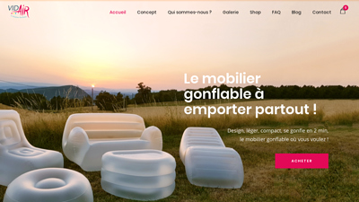 Vid air - mobilier gonflable