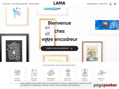 Lama Factory - cadre photo sur mesure