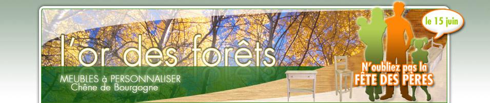 L'or des forêts - meubles bruts à personnaliser