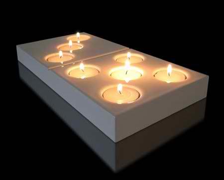 Porte-bougies design Domino