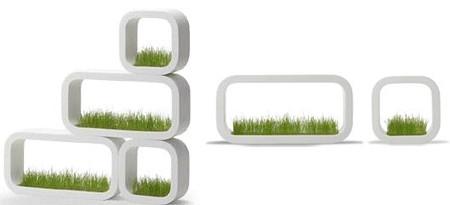 Etagère en herbe
