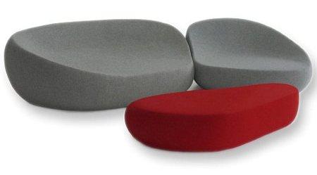Canapé design en forme de galet