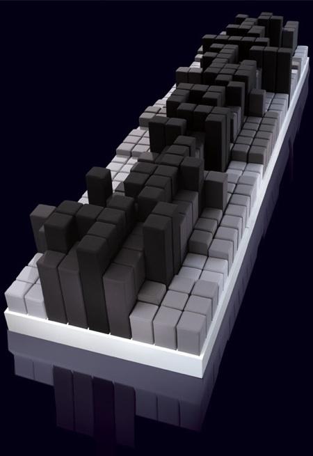 Scape by Bond, canapé avec des pixels en relief