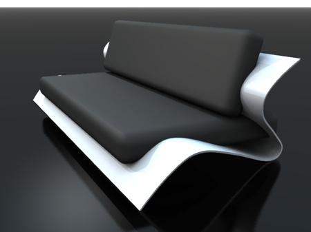 sofa bend noir et blanc