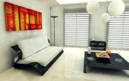 sofa bend dans un intérieur