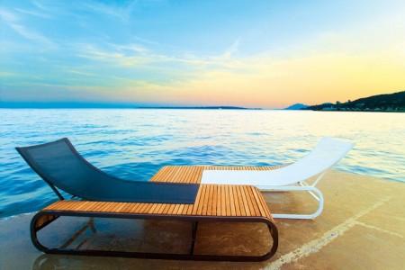 bain de soleil ego tandem au bord de la mer