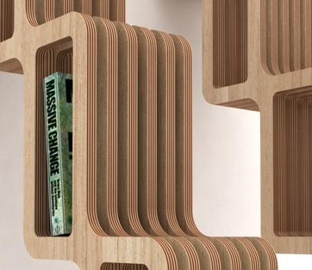 bibliothèque design en bois Quetza
