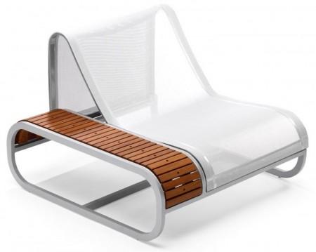 chaise de jardin avec accoudoir Ego tandem