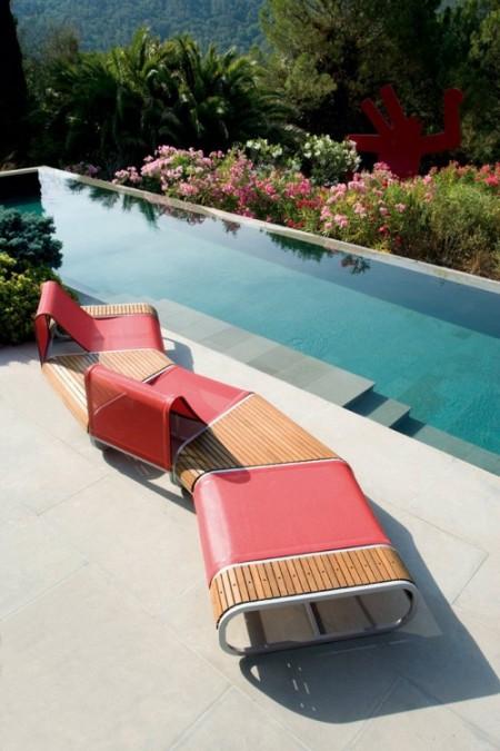 mobilier d'extérieur design ego tandem - Meuble Exterieur Design