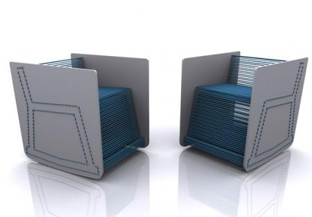 fauteuil élastique Stitch kit bleu