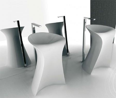 lavabo sur pied ou colonne design Miss Hidra