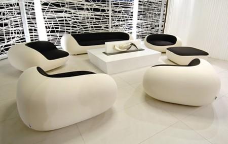 salon Nido noir et blanc