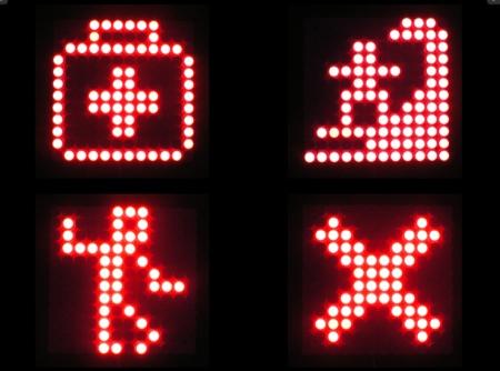 tableau de geek avec pictogramme lumineux aléatoire Creadots