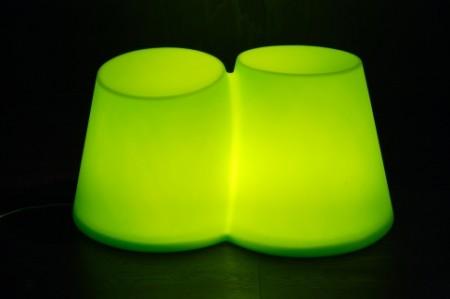 tabouret double lumineux Bibottom
