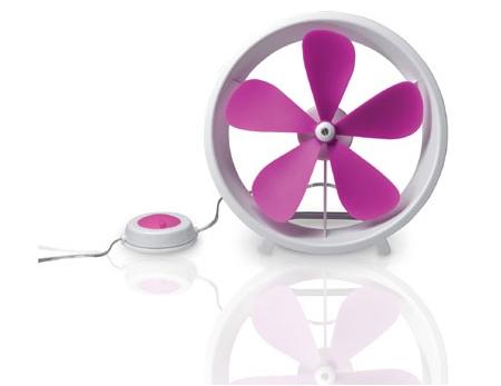ventilateur à pales Tykho rose
