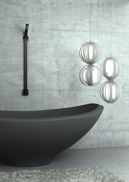 baignoire Kawa design par Karim Rashid pour Cisal