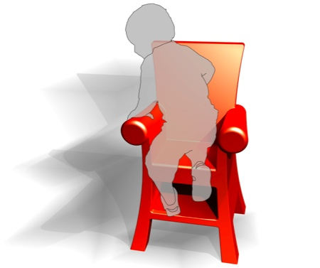 chaise trône royal pour enfant