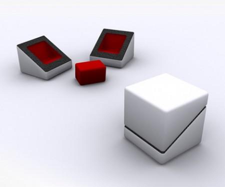cube multifonctions 1 2 3 4 5 seconds design John Nouanesing