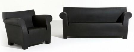 fauteuil et canapé Bubble club noir - Philippe Starck Kartell