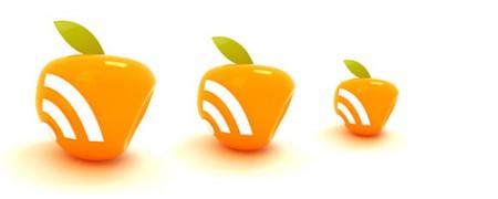icône RSS en forme de pomme