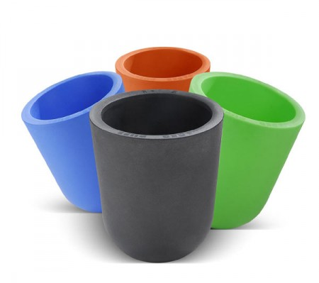 pouf design Duo Ibebi en polyethylene rotomoulé