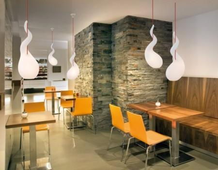 suspension alien dans un restaurant design