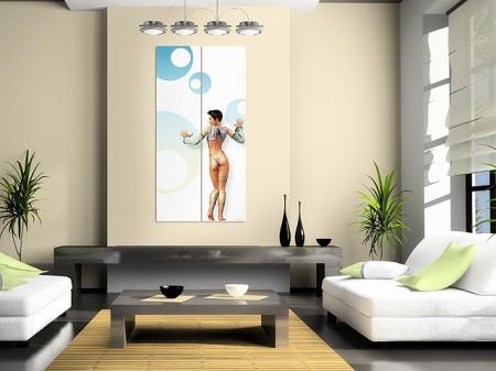 tableau diptique BD imagine design