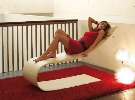 Chaise longue Onda design par Diego Granese