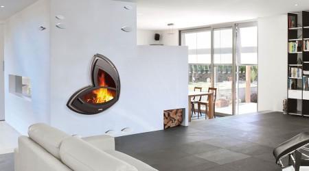cheminée contemporaine murale Arkadia cheminées design