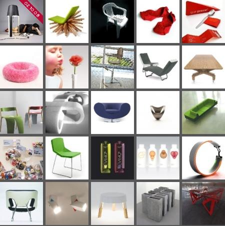 quelques exemples de meubles et objets design sélectionnés sur le design and design book of the year 2008 de Marc Praquin