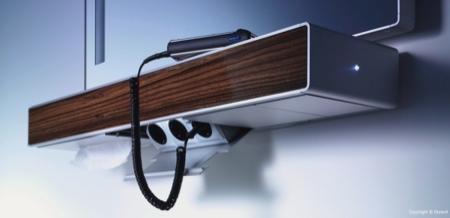Duravit e mood rangement avec prises électriques intégrées