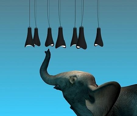 suspension trunk avec un éléphant