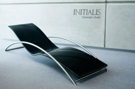 chaise longue design en carbone Initialis par Christophe Soffietti