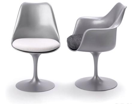chaise tulip chair platinium argent Knoll - Eero Saarinen