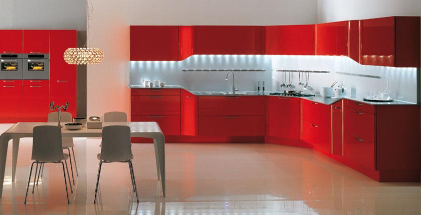 Cuisine Moderne Cuisine de Luxe Moderne RougeCuisine design Snaidero