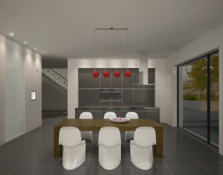 cuisine avec installation domotique KNX par Jung