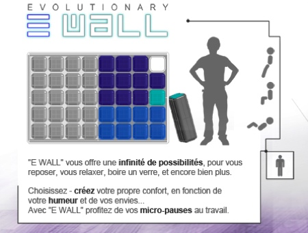 E wall cloison modulaire design par Josselin Zaïgouche