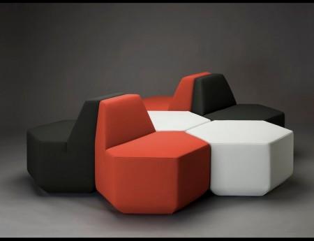 fauteuil et table basse hexagonale Sest par MM interier