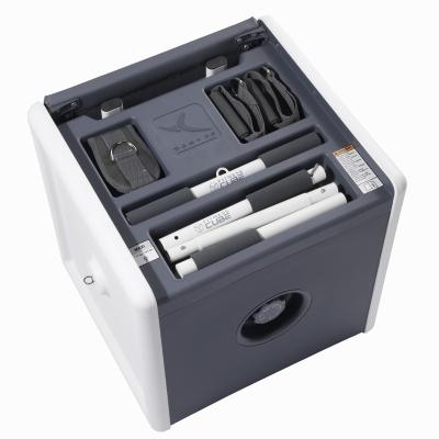 fitness cube Decathlon contenant tous les accessoires