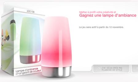 lampe design à gagner