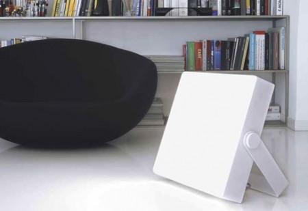 lampe senza parole blanche design Filippo Del'Orto