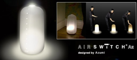 Airswitch az la lampe qui s 39 allume d 39 un geste de la main - Lampe qui s allume en la touchant ...