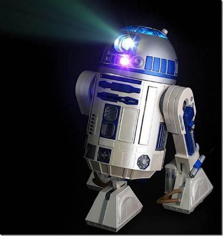 R2D2 videoprojecteur robot star wars