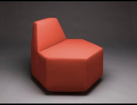 fauteuil en forme d'hexagone Sest plus Jedna - MM interier