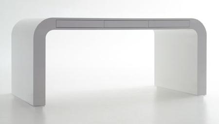 bureau signalement desk blanc