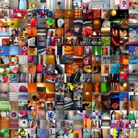 tableau carré composé de 200 photos