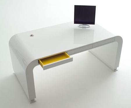 Bureau design bureau blanc moderne eyebuy