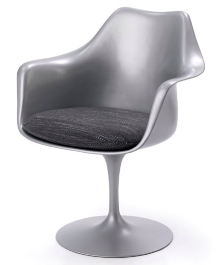 Tulip armchair platinium Knoll