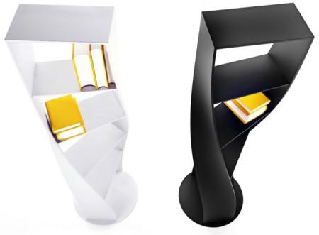 bibliothèque tordue MyDNA design Joel Escalona