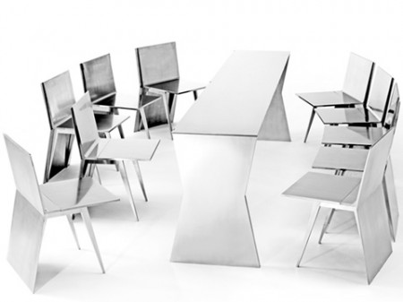 bar ou table de salle à manger avec les chaises : the monolith